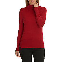 Buy Betty Barclay Polo Neck Jumper, Chilli Red Online at johnlewis.com