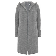 Buy Mint Velvet Fluffy Cardigan, Dark Grey Online at johnlewis.com