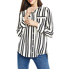 Buy Oasis Lincoln Stripe Shirt, Black/White Online at johnlewis.com