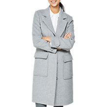 Buy Mint Velvet Statement Collar Wool Coat, Grey Online at johnlewis.com