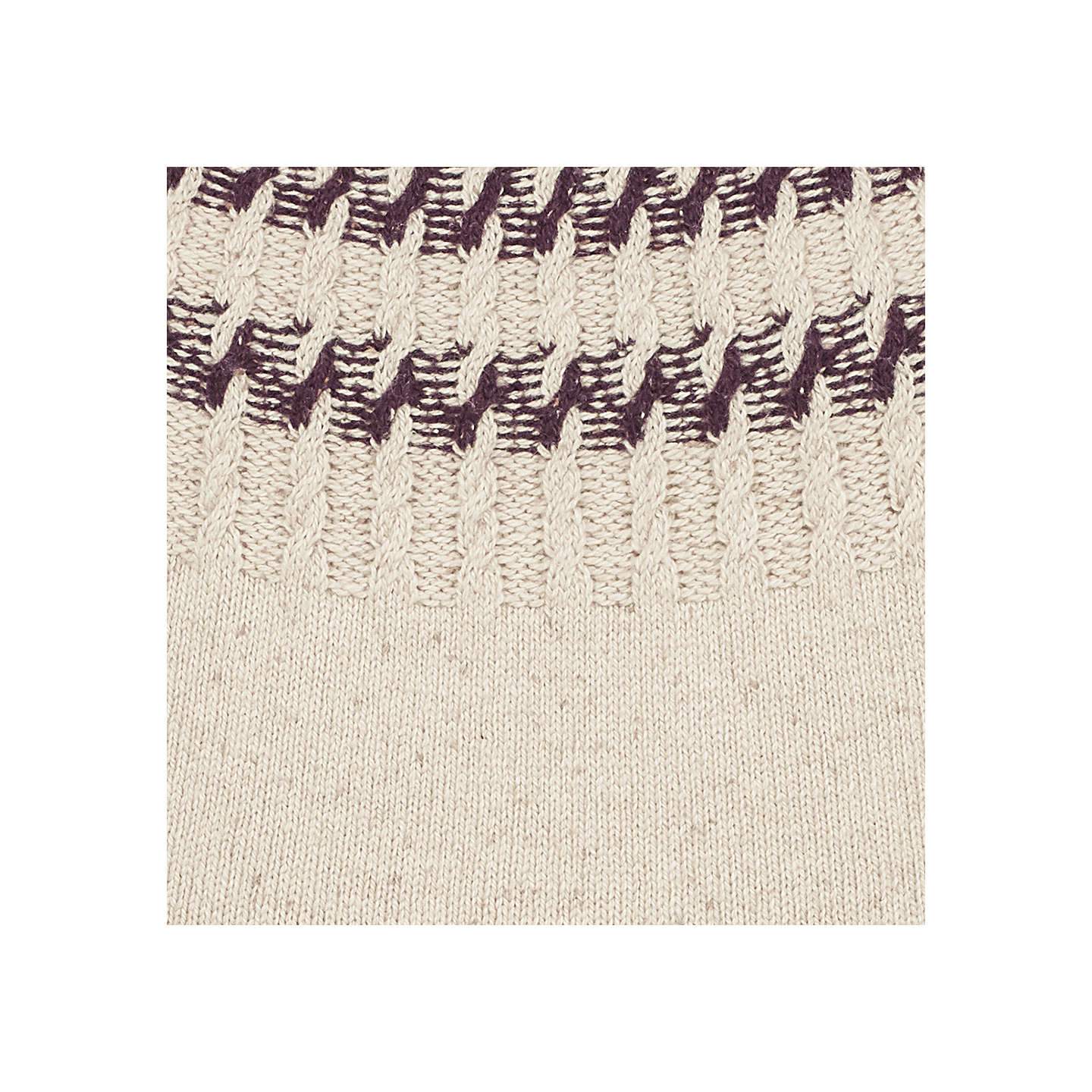 BuyFat Face Lara Jumper, Ivory/Purple, 6 Online at johnlewis.com
