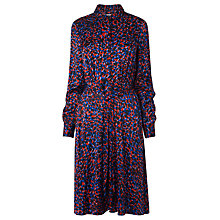 Buy L.K.Bennett Celest Print Drape Dress, Red/Navy Online at johnlewis.com