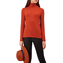 Buy Hobbs Mischa Roll Neck Jumper, Marmalade Online at johnlewis.com