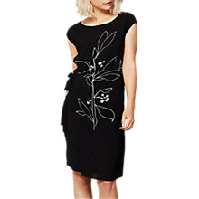 Buy Mint Velvet Marie Printed Midi Dress, Black Online at johnlewis.com