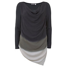 Buy Mint Velvet Ombre Print Ruched Layered Top, Multi Online at johnlewis.com