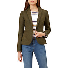 Buy Hobbs Dalby Wool Jacket, Moss Green Online at johnlewis.com