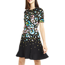 Buy Oasis Rosetti Skater Dress, Multi/Black Online at johnlewis.com