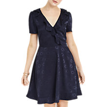Buy Oasis Floral Jacquard Dress, Navy Online at johnlewis.com