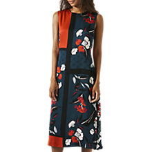 Buy Jigsaw Nordic Floral Salena Dress, Orange Online at johnlewis.com