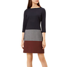 Buy Hobbs Simone Shift Dress, Navy/Multi Online at johnlewis.com