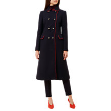 Buy Hobbs Carla Coat, Navy/Red Online at johnlewis.com
