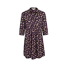 Buy Fat Face Lena Teatime Floral Dress, Aubergine Online at johnlewis.com