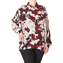 Buy ADIA Printed Shirt, Red Merlot Online at johnlewis.com