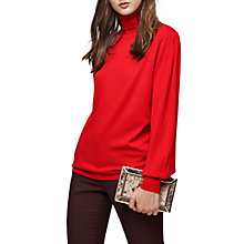 Buy Reiss Caroline Merino Wool Roll Neck Jumper, Red Online at johnlewis.com