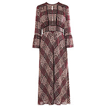 Buy L.K. Bennett Alys Silk Maxi Dress, Ruby Online at johnlewis.com