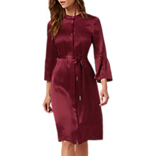 Buy L.K. Bennett Willow Silk Bell Sleeve Dress, Ruby Online at johnlewis.com
