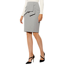 Buy Karen Millen Folded Feminine Pencil Skirt, Grey Online at johnlewis.com