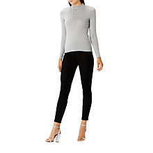 Buy Coast Sadie Hotfix Knitted Top, Grey Online at johnlewis.com