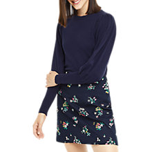 Buy Oasis Historical Sleeve Knitted Jumper, Rich Blue Online at johnlewis.com