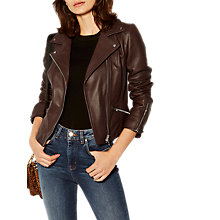 Buy Karen Millen The Essentials Leather Biker Jacket Online at johnlewis.com