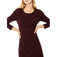 Buy Karen Millen Victoriana Knitted Dress, Aubergine Online at johnlewis.com