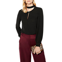 Buy Karen Millen Choker Blouse, Black Online at johnlewis.com
