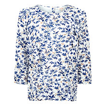 Buy Fat Face Linley Song Bird Ruffle Top, Ivory Online at johnlewis.com