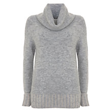 Buy Mint Velvet Cowl Neck Jumper, Light Grey Online at johnlewis.com