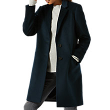 Buy Jigsaw Single Breasted City Wool Coat, Midnight Green Online at johnlewis.com