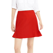 Buy Oasis Textured Flippy Skirt, Red Online at johnlewis.com