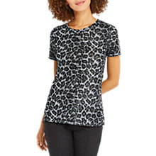 Buy Oasis Animal Print Short Sleeve T-Shirt, Navy Print Online at johnlewis.com