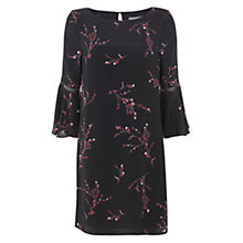 Buy Mint Velvet Blossom Print Swing Dress, Black/Multi Online at johnlewis.com