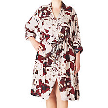 Buy ADIA Printed Shirt Dress, Off White/Merlot Online at johnlewis.com