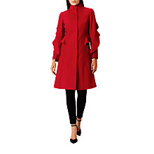 Buy Coast Macey Ruffle Coat, Red Online at johnlewis.com
