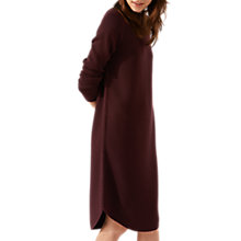 Buy Jigsaw Ribbed Detail Curved Hem Dress, Rust Online at johnlewis.com