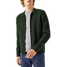 Buy Jigsaw Milan Zip Jacket, Hunter Green Online at johnlewis.com