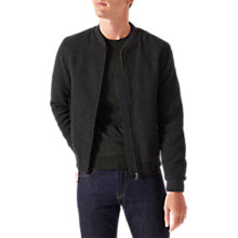 Buy Jigsaw Wool Bomber Jacket, Graphite Online at johnlewis.com