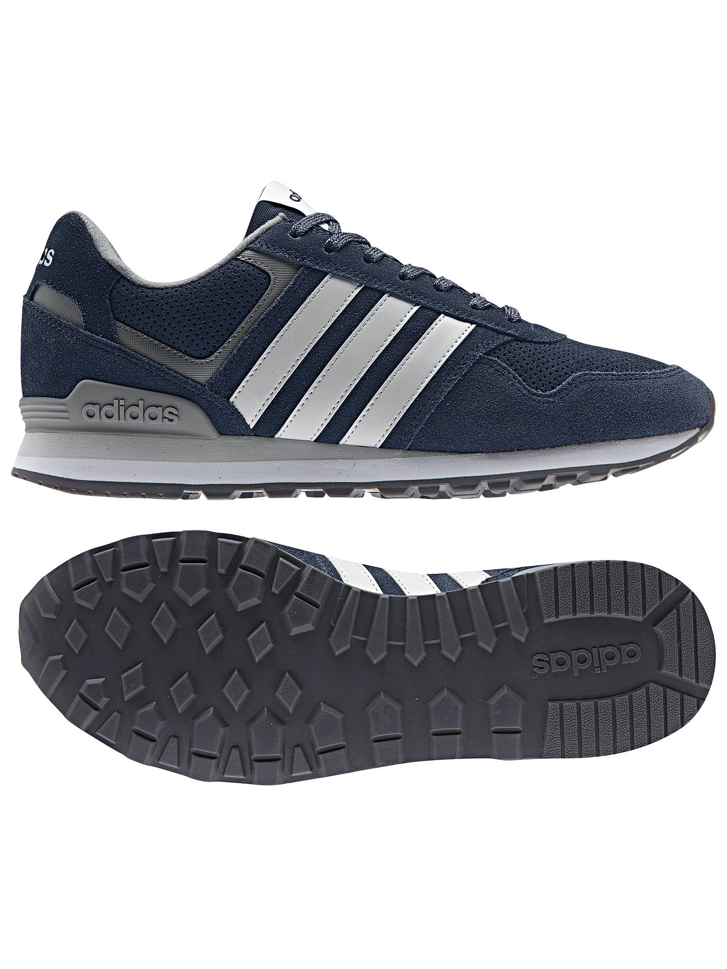 Buyadidas Runeo 10k Men's Suede Trainers, Collegiate Navy, 7 Online at johnlewis.com