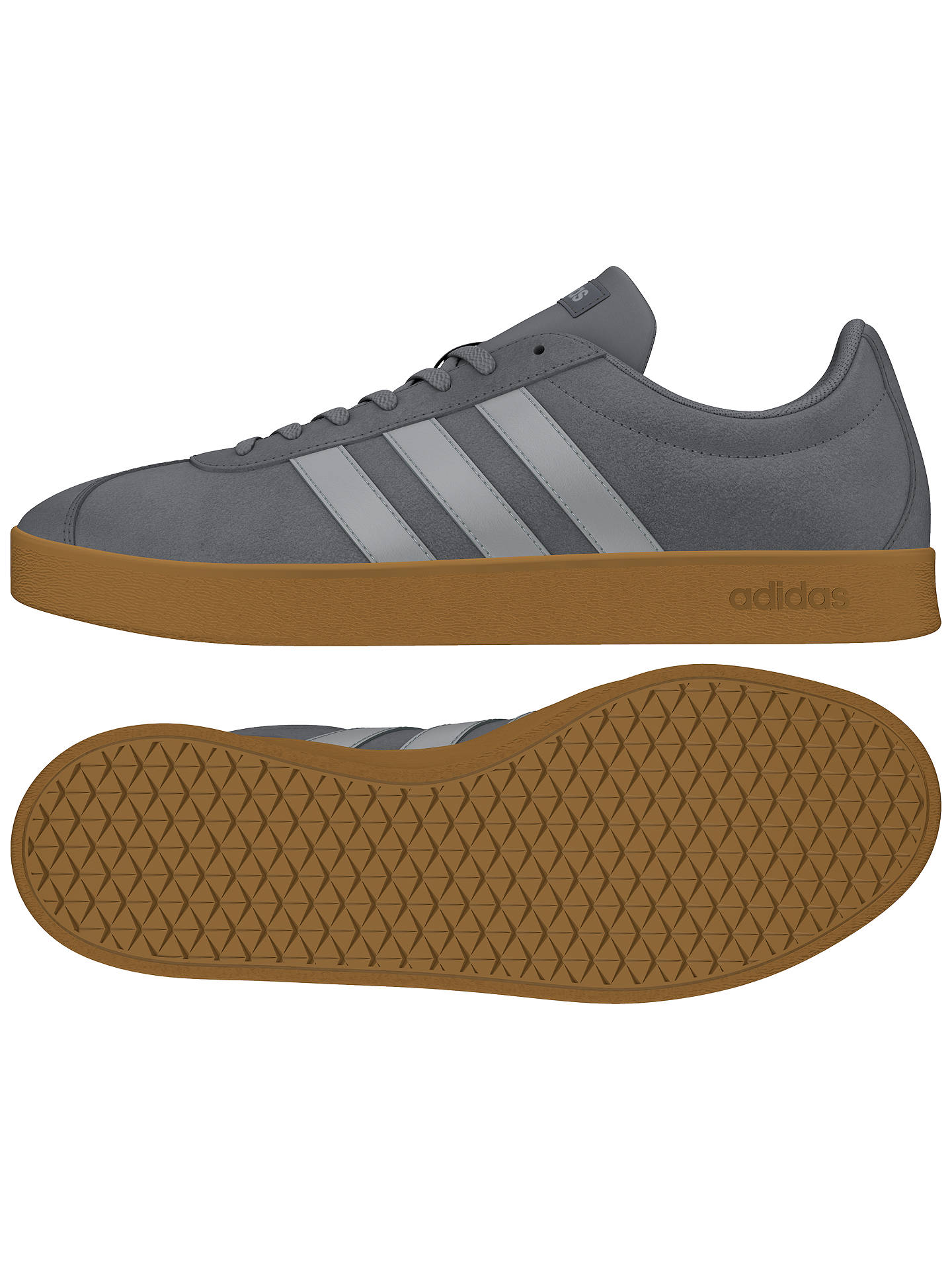 sports shoes 37c36 c8b99 ... Buy Adidas NEO VL 2.0 Court Suede Men s Trainers, Grey, 7 Online at  johnlewis ...