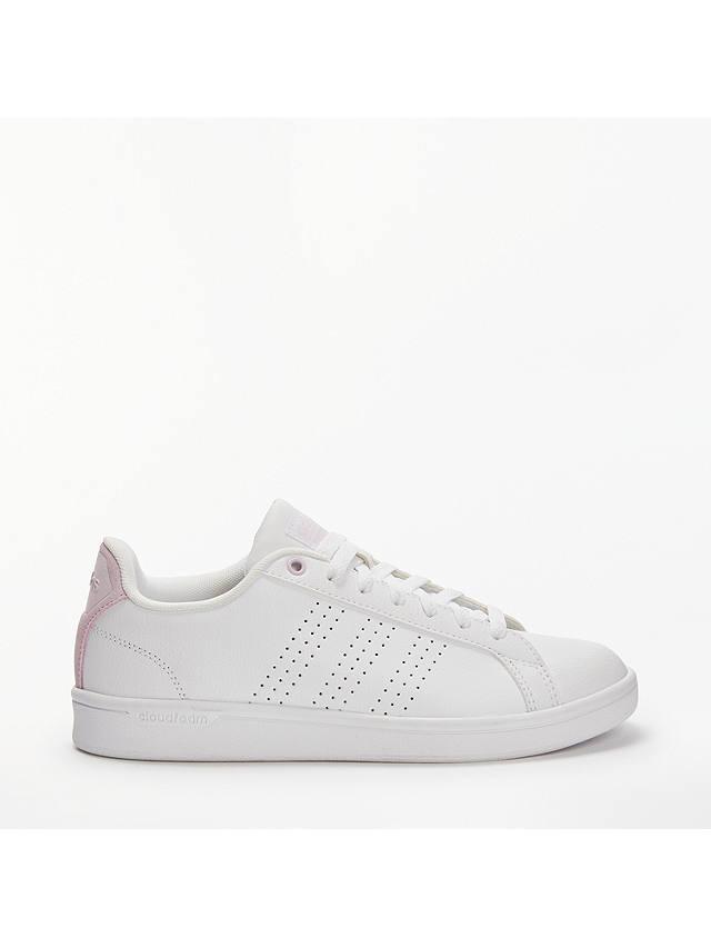 adidas Neo Cloudfoam Advantage Women's Trainers, White/Pink at ...