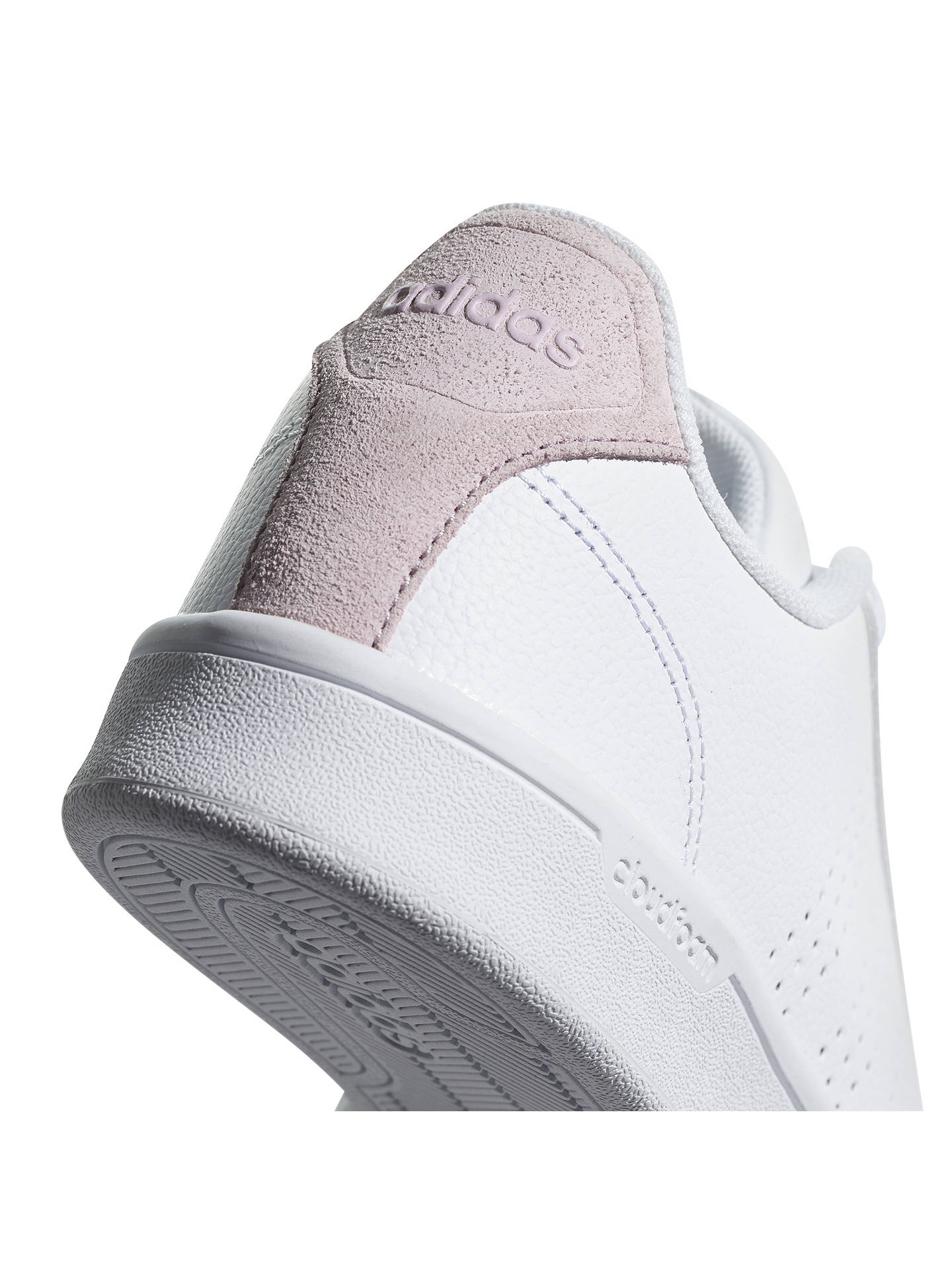 best loved 42d0c a5ae9 ... Buy adidas Neo Cloudfoam Advantage Women s Trainers, White Pink, 4  Online at johnlewis ...