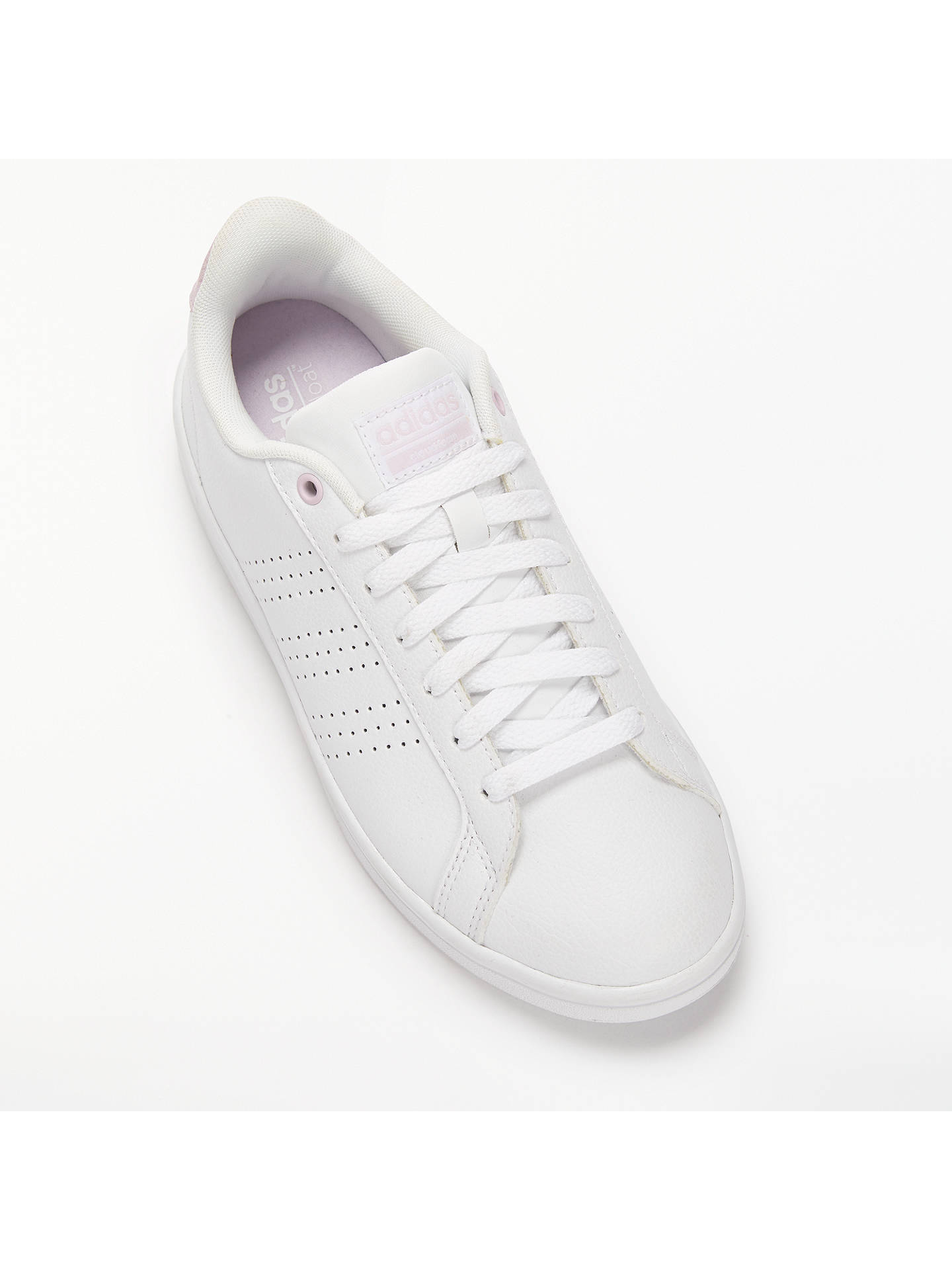 best loved 1546b dec5c ... Buy adidas Neo Cloudfoam Advantage Women s Trainers, White Pink, 4  Online at johnlewis ...