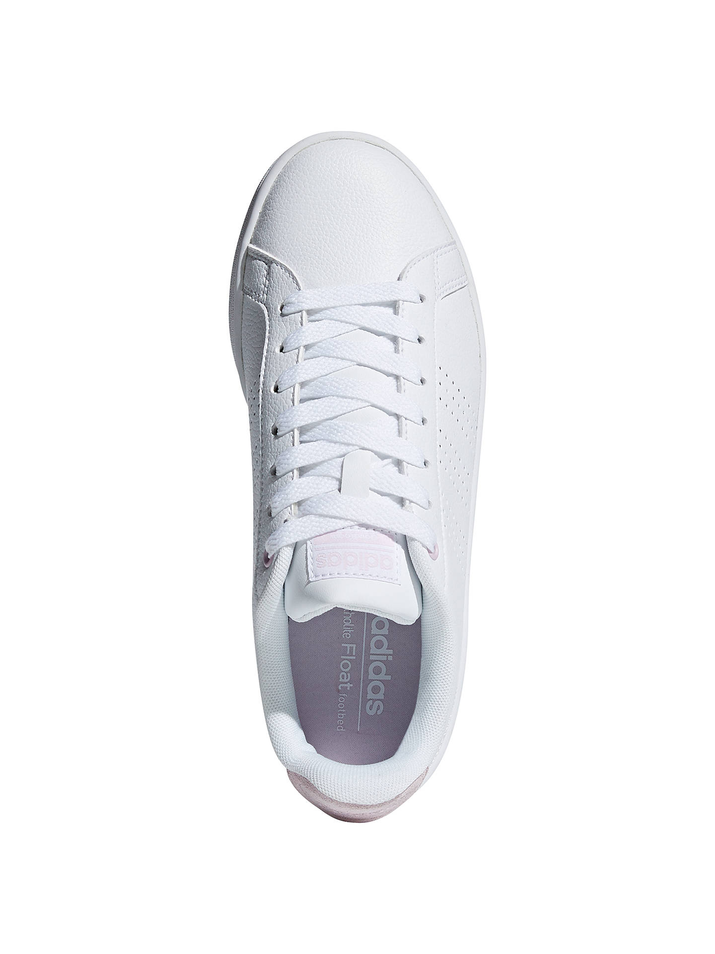 Buy adidas Neo Cloudfoam Advantage Women's Trainers, White/Pink, 4 Online at johnlewis.com