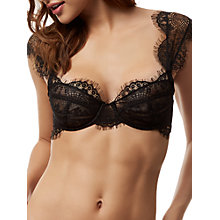 Buy Bluebella Marina Balcony Bra, Black Online at johnlewis.com