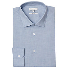 Buy Reiss Tapper Melange Weave Slim Fit Shirt, Soft Blue Online at johnlewis.com