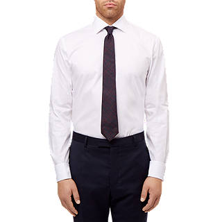 Jaeger Dobby Slim Fit Shirt, White
