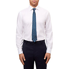 Buy Jaeger Herringbone Shirt, White Online at johnlewis.com