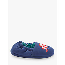 Buy John Lewis Children's Dino Slippers, Navy Online at johnlewis.com