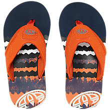 Buy Animal Children's Jekyl Logo Flip Flops, Navy Online at johnlewis.com