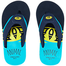 Buy Animal Jekyl Slice Flip Flops, Black Online at johnlewis.com